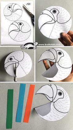 Paper parrot craft chunky rainbow butterfly craft for kids Bird Crafts, Butterfly Crafts, Animal Crafts, Fun Crafts, Arts And Crafts, Paper Crafts, Parrot Craft, Diy For Kids, Crafts For Kids