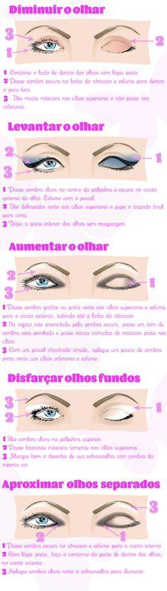 Ilustração com as dicas para disfarçar imperfeições com maquiagem...❤