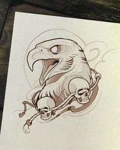 Pin by cameron on tattoos Tattoo Sketches, Tattoo Drawings, Drawing Sketches, Cool Drawings, Body Art Tattoos, Sketching, Eagle Tattoos, Desenho Tattoo, Tattoo Stencils