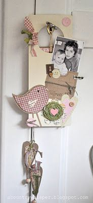 door hunger by Manuela - love the dangling hearts with initials