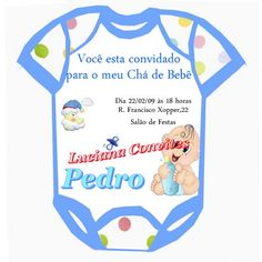 convite para cha de bebe 9 Invitation Templates, Diapers, Molde, Places