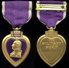 Purple - Secondary colour: Purple is symbolic of bravery. The purple in the U.S. military Purple Heart award represents courage. The Purple Heart is awarded to members of the United States armed forces who have been wounded in action.
