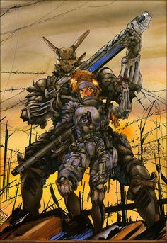 Though he's been out of the manga game for well over a decade, Masamune Shirow's work continues to be tapped for adaption by the Japanese animation industry. Manga Anime, Art Manga, Manga Artist, Anime Art, Bd Comics, Manga Comics, Masamune Shirow, Apple Seeds, Cyberpunk Art