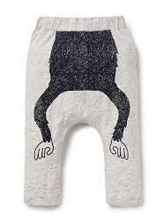 Monkey Print Harem Pant