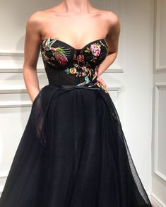 Onyx Blossom TMD Gown