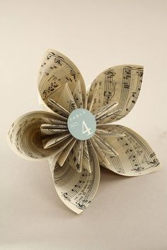 DYI paper flower book pages | Book Page Kusudama Flower