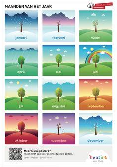 Gratis poster om de maanden van het jaar te leren