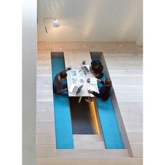 office interiors magazine. Paul Crofts Studio Sinks Seating Areas Into Floor Of London Office. Could Be Used To Integrate Lab With Office Space- Higher Up You Have The Normal Interiors Magazine