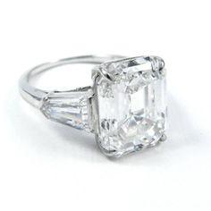 Harry Winston 6.36 Carat GIA Certified Emerald Cut Diamond Platinum... (€275.675) ❤ liked on Polyvore featuring jewelry, rings, american diamond jewellery, harry winston, american jewelry, platinum jewellery and harry winston rings