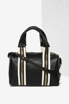 White Stripes Shoulder Bag