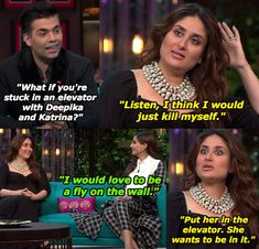"18 Hilarious Moments From Kareena Kapoor Khan And Sonam Kapoor's ""Koffee With Karan"" Episode Funny Vidos, Latest Funny Jokes, Funny Adult Memes, Funny Troll, Funny School Memes, Crazy Funny Memes, Really Funny Memes, Hilarious, Actors Funny"