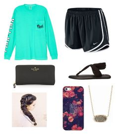 Lazy Day by heyitsizzy22 on Polyvore featuring polyvore, fashion, style, Victoria's Secret, NIKE, sanuk, Kate Spade, Kendra Scott, Casetify and clothing