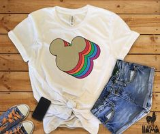Disney T-Shirt This t-shirt is Made To Order, one by one printed so we can control the quality. Cute Disney Outfits, Disney World Outfits, Cute Outfits, Disney Clothes, Trendy Outfits, Mickey Head, Mickey Mouse, Live Action, Travel Shirts