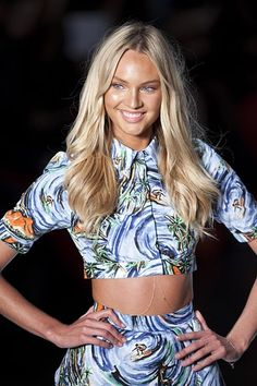 We love Victoria's Secret Angel Candice Swanepoe's naturally flowing hair.