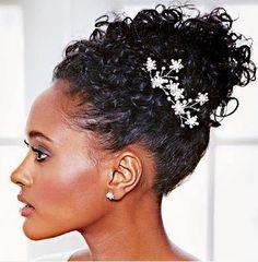 elegant natural hairstyles for black women | Bridal hairstyles for natural hair***