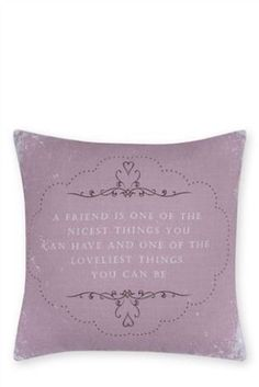 Love a cushion with a message.