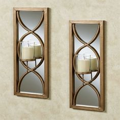 Anderson Gold Mirrored Wall Sconce Pair