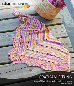 S9043 - Farbenfrohes Dreieckstuch aus Schachenmayr #Letizia, gratisanleitung