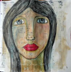 7 Feb 2015 #29faces Art, Art Challenge, Painting, Face Painting