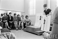 TWA stewardess school, Kansas City, 1961