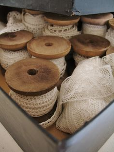 <3 Vintage spools and lace <3