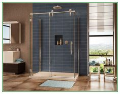 Cool info on Modern Bathroom With Sliding Glass Shower Doors