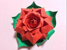 達人折りのバラの折り紙25 Only one origami rose25 - YouTube