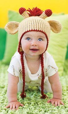 Giraffe Hat from September/October 2012 crochet today!