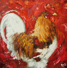 French rooster art for the new kitchen!
