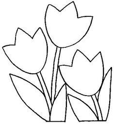 Flower coloring pages Applique Templates, Applique Patterns, Applique Designs, Flower Patterns, Faux Stained Glass, Stained Glass Patterns, Mosaic Patterns, Flower Outline, Tole Painting Patterns