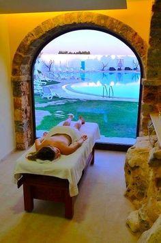 La splendida Spa delle Tenute Al Bano Carrisi, a Cellino San Marco #travel #luxury #Puglia #Italy #relax #spa #hotel