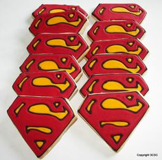 Super Hero Cookies - super hero cookies - one dozen hand decorated cookeis