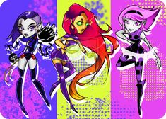 Titans Go! girls by Glory-Day