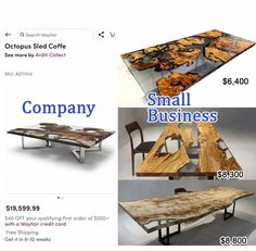 Live edge Epoxy resin table order Epoxy Wood Table, Small Company, Rustic White, Types Of Wood, Dining Set, Farmhouse Style, Teak, Live, Beautiful