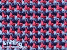 This gorgeous stitch creates a beautiful tweed effect in a unique 'L' shape!This gorgeous stitch creates a beautiful tweed effect in a unique 'L' shape! It's called Triple L Tweed stitch