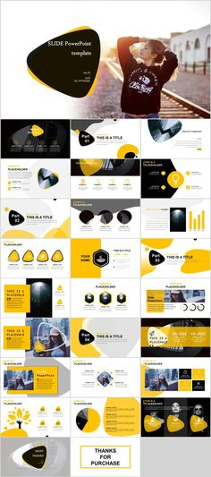 Yellow Business Presentation Report PowerPoint template