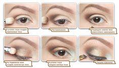 Пошаговый макияж для зеленых глаз