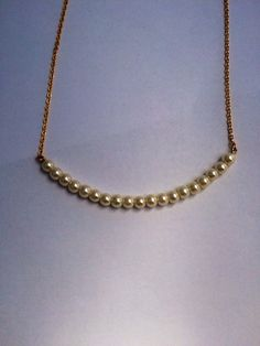Pearl Bar Necklace by FrantasticSparkle on Etsy