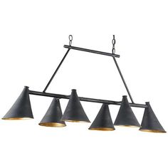 Currey and Company Culpepper French Black Rectangular Chandelier