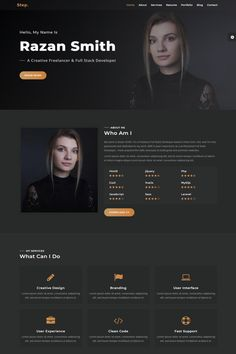 Have a look at the demo of the premium Step - Responsive Personal Portfolio Landing Page Template ( to discover what this design is prior to buying it. Go through the pages, examine the imag Ui Ux Design, Web Design Grid, Web Design Websites, Web Design Examples, Minimal Web Design, Web Design Software, Web Design Trends, Flat Design, Best Web Design