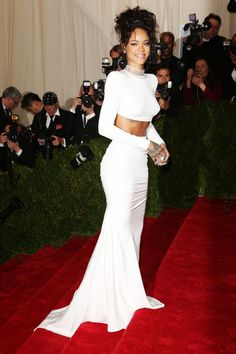 The 25 Best Looks From The Met Ball #refinery29  http://www.refinery29.com/2014/05/67370/met-gala-best-dressed-2014#slide-24  Later in the night, Rihanna rolled up with the Stella McCartney crew, including Reese Witherspoon, Cara Delevingne, Kate Bosworth, and the designer herself. Wearing a white, slinky, body-hugging, two-piece, McCartney creation, Rihanna made quite the entrance, but couldn't possibly have thought her look was Charles James-appropriate. We're sure she got over it quite…