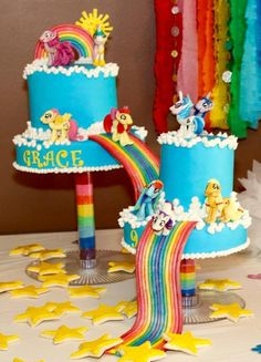 You have to see My Little Pony Over The Rainbow Cake by Kaatman_ATUC!