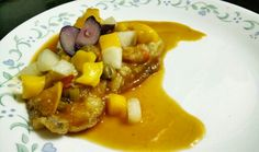 Fish in fruity, sweet sour and spicy sauce. #basa hotnspicy