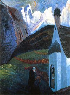 Marianne von Werefkin - The prayer (1910)