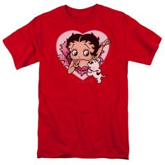 BOOP/I LOVE BETTY-S/S ADULT 18/1-RED