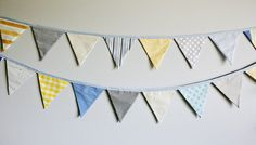 Party Bunting Bunting Banner Pennant Flag Garland by tinamagee