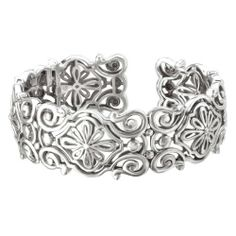 925 Silver Wide Filigree Design Cuff Bracelet Element Jewelry. $399.00. Part of the New Italian Firenze Designer Collection. Unique Design. Flawlessly Polished .925 Sterling Silver. Matching Pieces Also Available. Satisfaction Guaranteed