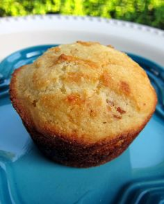 No good BBQ is complete without a yummy corn muffin.  These corn muffins are not your ordinary corn muffin; they are over the top - packed full of cheddar cheese and bacon!  YUM!
