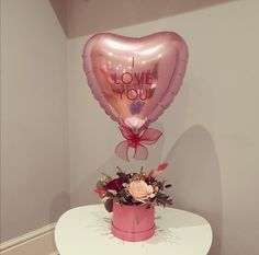 Balloon Flowers, Balloon Bouquet, Personalised Balloons, Valentines Balloons, Gift Box Design, Balloon Arrangements, Light Up Letters, Heart Balloons, Valentine Decorations