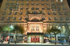 Cortez Hotel at night El Paso, Texas. One of my favorite buildings in El Paso.